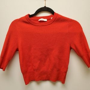 A.L.C Red short sleeved Wool Blend swearter
